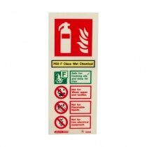 Also available without electrical rating symbol for older extinguishers