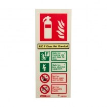 Newer P50 Wet Chemical extinguishers are rated for safe use around live electrical equipment