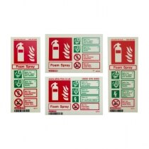 Photoluminescent Foam Fire Extinguisher Signs