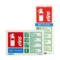 Photoluminescent Powder Fire Extinguisher Signs