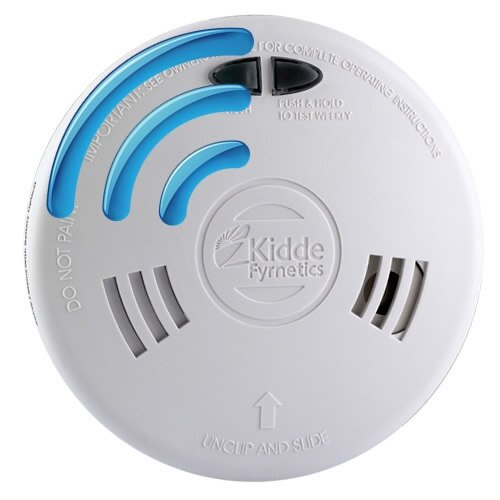 radio interlinked smoke and heat alarms with lithium backup batteries kidde slick. Black Bedroom Furniture Sets. Home Design Ideas