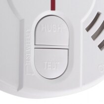 Large, dedicated test and hush buttons for ease of use