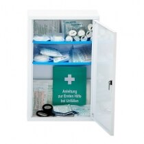 The Leina Medisan first aid cabinet is supplied with two shelves
