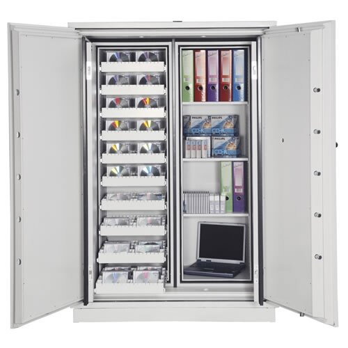 Data Commander 4623 Fire Data Safe doors fully open
