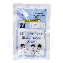 Defibrillator pads for children - packaged