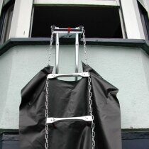 Fully deployed Rollo fire escape ladder