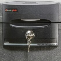 Sentry H3100 water and fireproof chest privacy lock