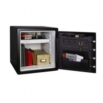Sentry SFW123FTC features key hooks and storage pocket on the inside of the door
