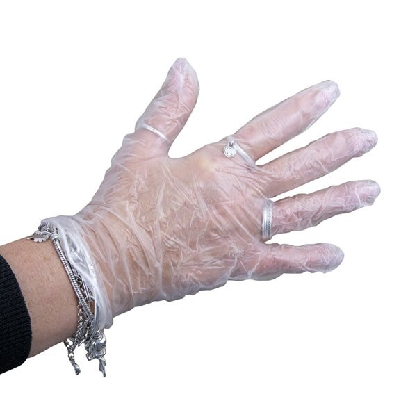 100 Pack of St John Powdered Vinyl Gloves