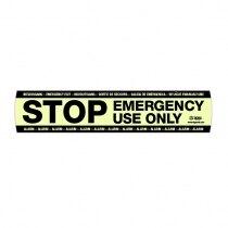 ECSG966 Fluorescent STOP Sticker