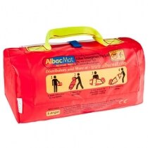 The AlbacMat flexible evacuation stretcher is compact and easy to store