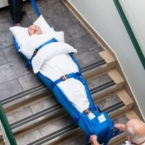 The Ski Sled is suitable for use where evacuation involves going down stairs