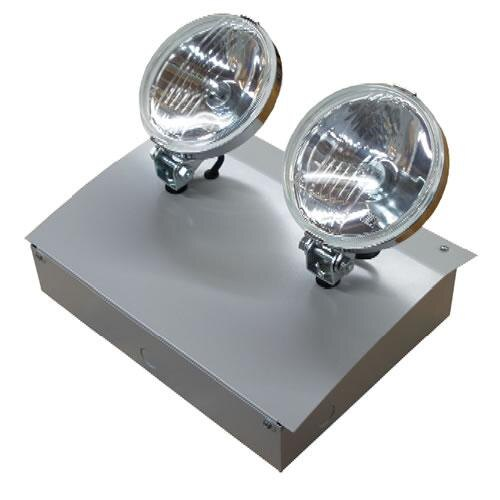 Decorative Emergency Wall Lights : Curved Decorative Twin Emergency Spotlights (Twin Spots) with Halogen Lamps - TSC