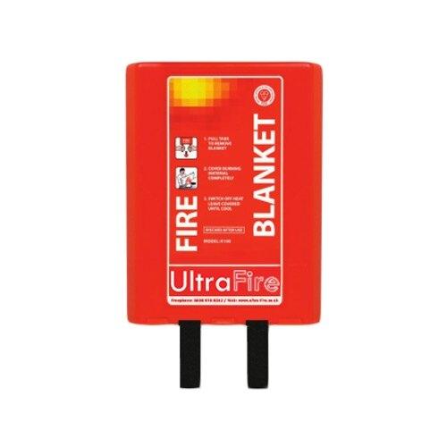 UltraFire branded fire blanket, Uk manufactured, supplied in a pod case