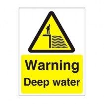 Warning and Danger Signs - Warning, Deep Water