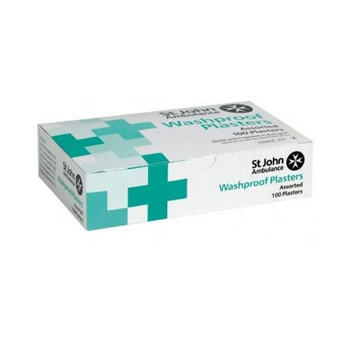 St John Ambulance Washproof Low Allergy Plasters Assorted Sizes and Shapes