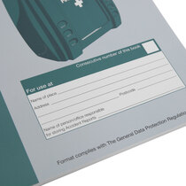 Relevant sections for identification of booklet owner