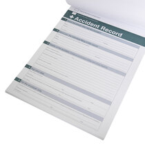 Includes perforated accident report forms