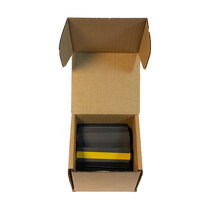 A box of 300 intumescent hinge pads with rounded corners could supply up to 50 door installations