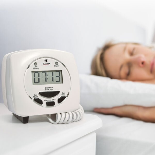 The Agrippa acoustic pillow alarm converts an audible alarm signal into a physical warning