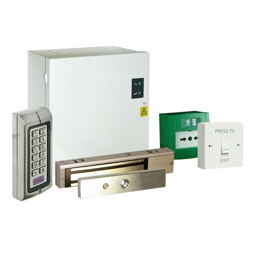 Access Control Maglock Kit with Push-Button