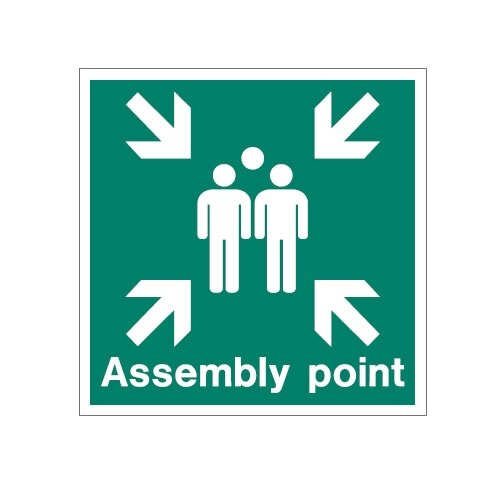 Aluminium Assembly Area Sign