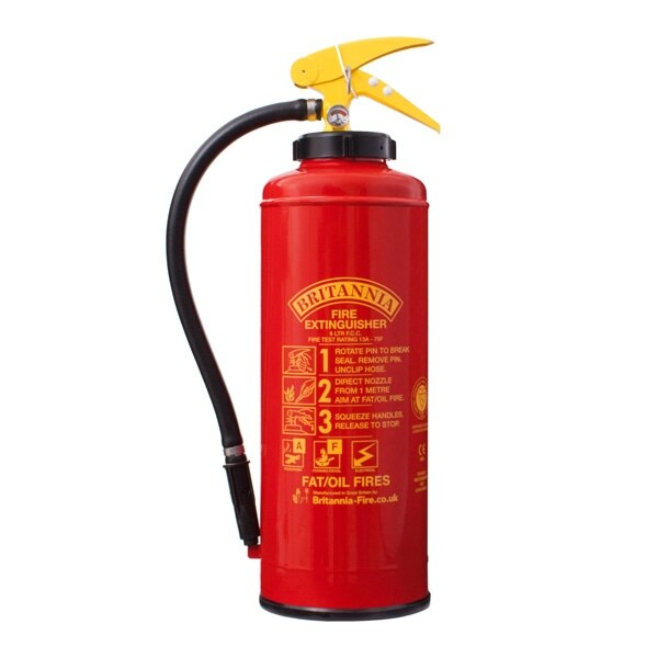 6ltr Wet Chemical Fire Extinguisher - Britannia