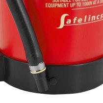 Over 1kg lighter than a standard 6ltr foam extinguisher