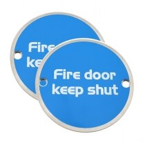 Briton Metal Fire Door Keep Shut Signs