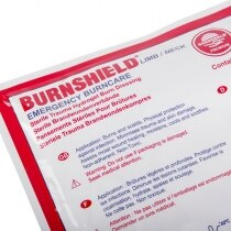 Saturated with Burnshield® Hydrogel cooling agent