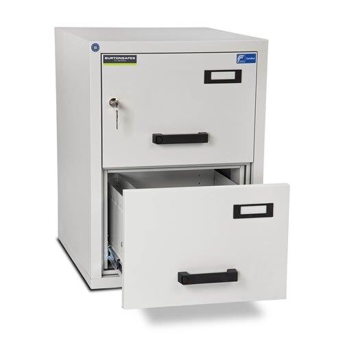 burton ff200mkii fireproof filing cabinet 2 drawer