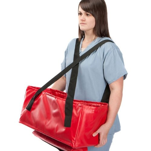 The Buscot BabEvac has adjustable straps for easy handling