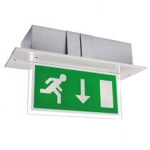 Double-Sided Recessed LED Fire Exit Sign - Calabor EX