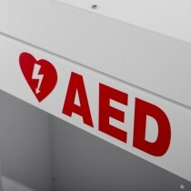 Helps to define the correct storage location of the defibrillator