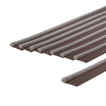 Surface-Mounted Double Fire Door Seal Kitss - Brown
