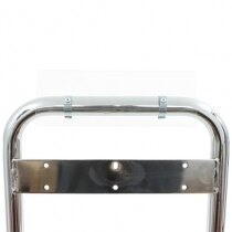 Double Fire Extinguisher ID Sign Chrome Stand Clip