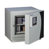 The DataGuard 25 safe is fitted with a key lock as standard