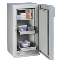 The safe is supplied with a shelf and two extendible drawers