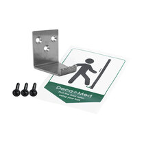Includes fixings pack (3 flange head wood screws) and instructional door sticker