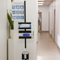 Slimline design ideal for corridors, hallways and other areas of high traffic