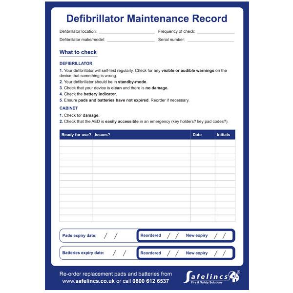 Free Defibrillator Maintenance Checklist