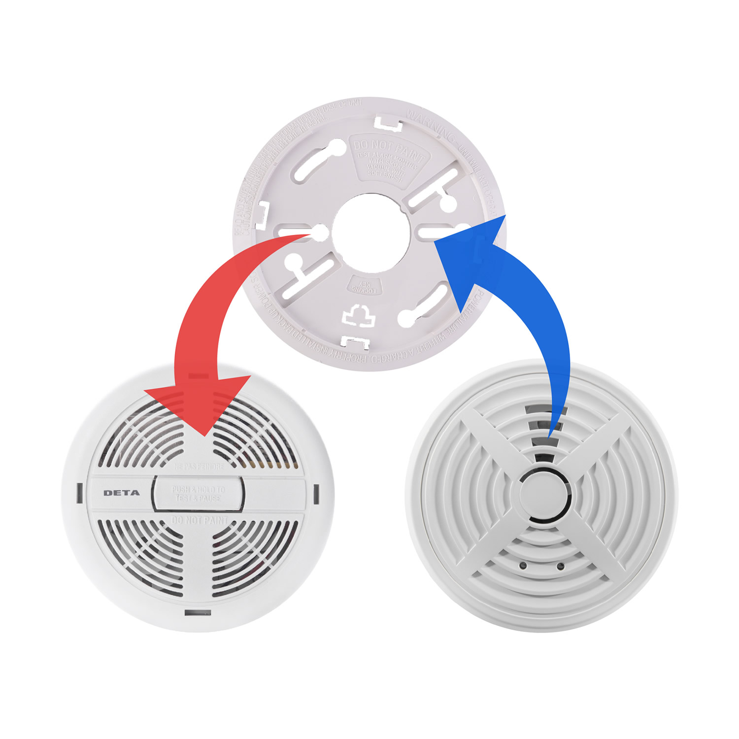Replacement for the DETA 1111 mains powered ionisation smoke alarm