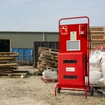 Waterproof extinguisher cabinet IP59k, holds two fire extinguishers