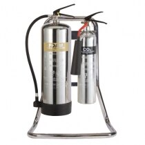 Double Chrome Metal Extinguisher Stand