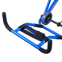 Footrest for patient comfort and additional carry handle