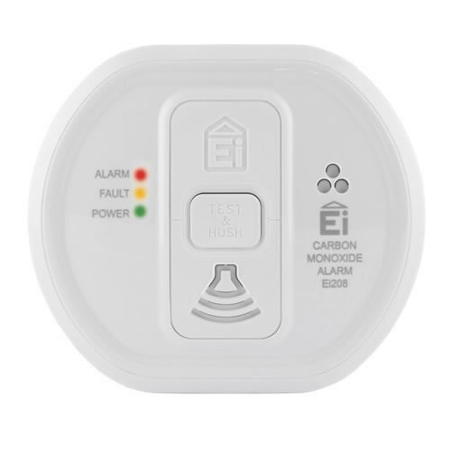 10 Year Carbon Monoxide Alarm with Long Life Lithium Battery - Ei208