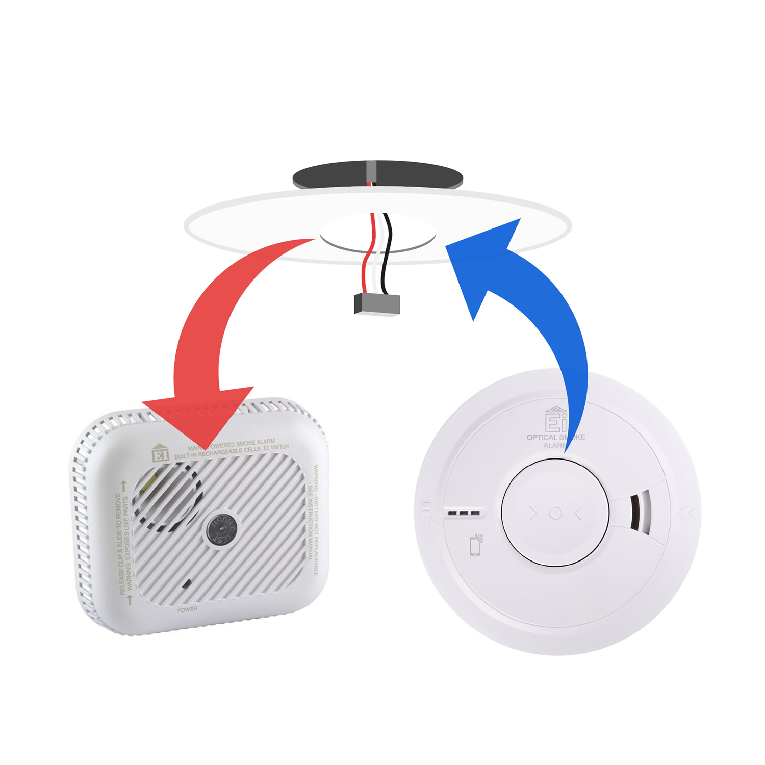 Replacement for Ei156 Smoke Alarm