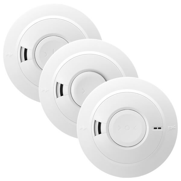 Mains Powered Smoke & Heat Alarms with Lithium Back-up Battery Ei160e Series