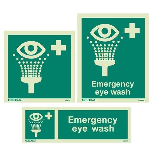 Emergency Eye Wash Signs