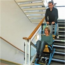 Single person operation down standard stairs